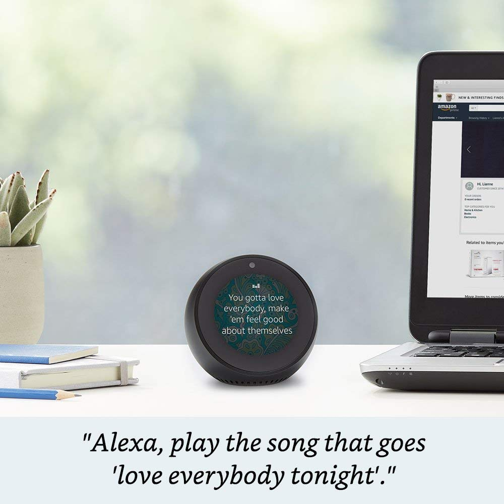 amazon echo spot review 2019
