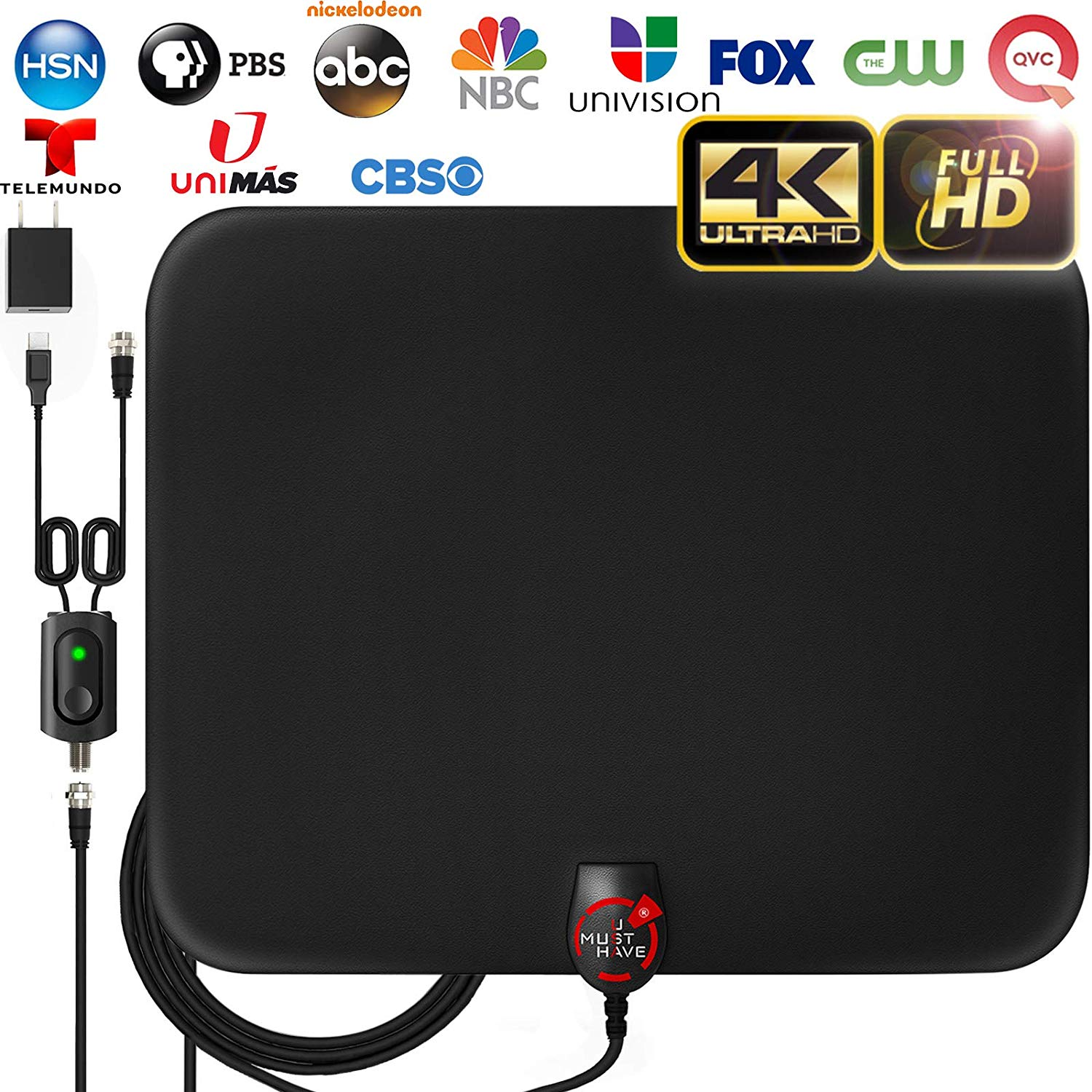 Amplified HD Digital TV Antenna from U-MUST-HAVE review