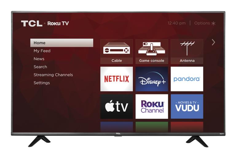 TCL 55 Class 4k UHD HDR LED Roku Smart TV 4 Series 55S20